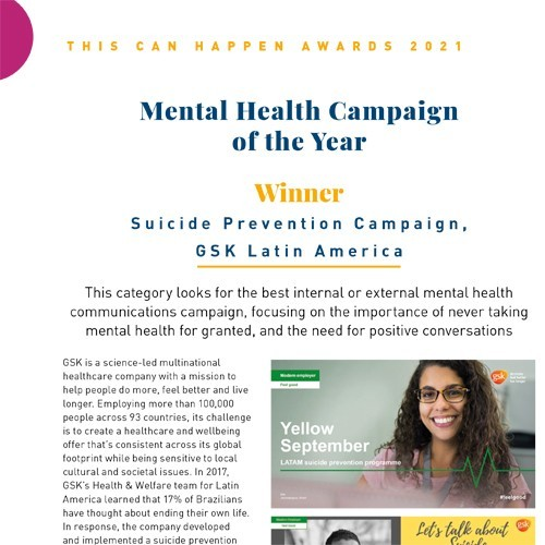 Mental Health Campaign of the Year photo