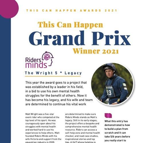 This Can Happen Grand Prix Winner 2021 photo