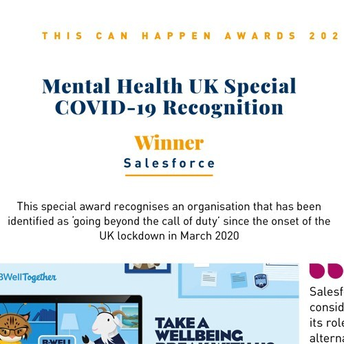 Mental Health UK Special COVID-19 Recognition Award photo