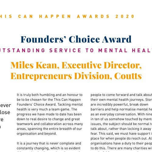 Founders' Choice Award: Outstanding Service to Mental Health photo