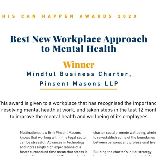 Best New Workplace Approach to Mental Health photo